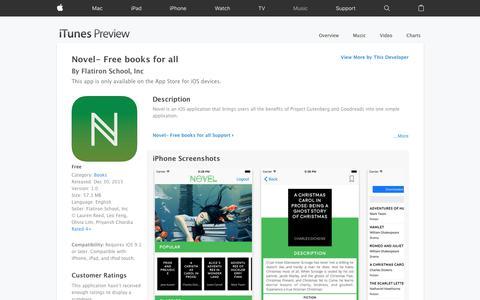 Novel- Free books for all on the App Store