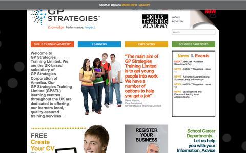 GP Strategies Skills Training Academy Homepage