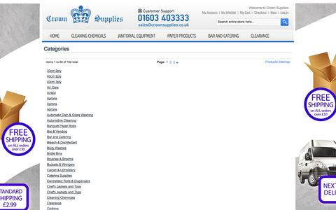 Screenshot of Site Map Page crownsupplies.co.uk - Site Map - captured Oct. 3, 2014