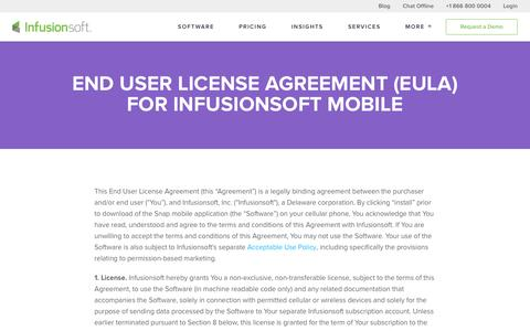 End User License Agreement for Infusionsoft Mobile