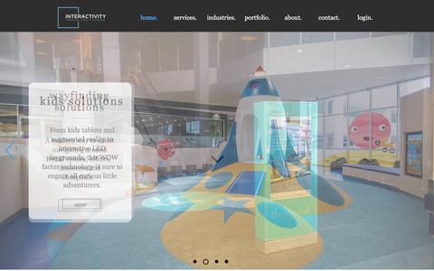 Screenshot of Home Page interactivity.com.au - Interactivity Home - captured Feb. 5, 2018