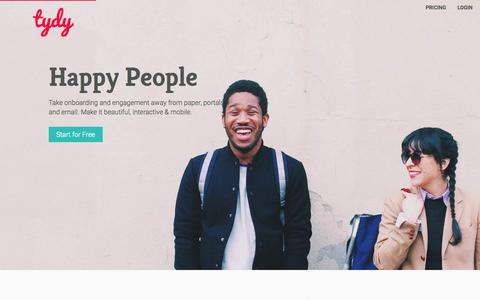 Happy employees - powered by tydy