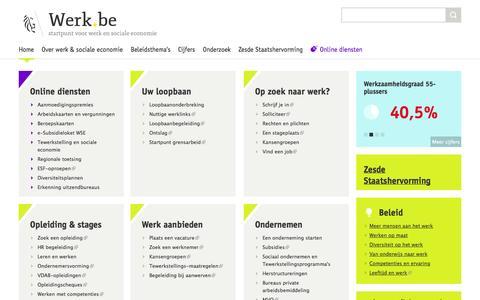Screenshot of Home Page werk.be - Werk.be - captured Jan. 26, 2015