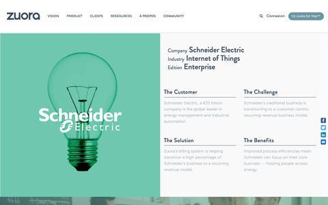 Screenshot of Case Studies Page zuora.com - Schneider Electric Case Study - Zuora - captured Sept. 11, 2017