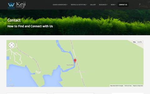 Screenshot of Contact Page whynotadventure.ca - Contact | Whynot Adventure & Keji Outfitters - captured Oct. 9, 2014