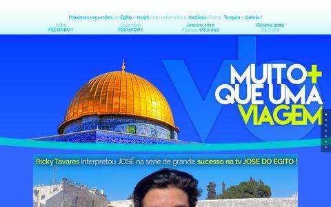 Screenshot of Home Page viagensbiblicas.com.br - O Melhor viagem a ISRAEL   Agencia de turismo especializada em TERRA SANTA - captured Sept. 21, 2018