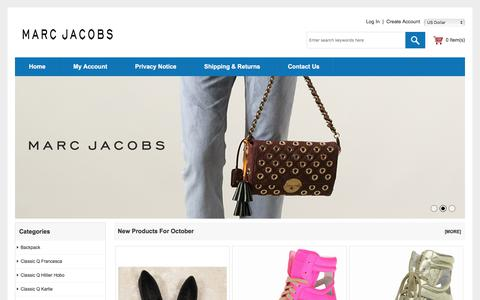 Screenshot of Home Page fortemarnavegacao.com - Marc Jacobs Outlet Handbags Online Shop To Buy New Items - captured Oct. 14, 2017