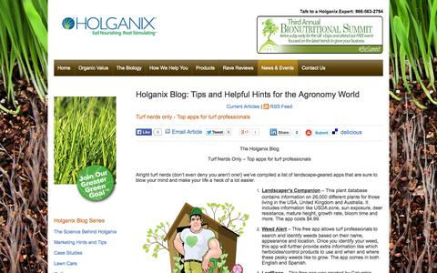 Screenshot of Blog holganix.com - The Holganix Blog - captured Sept. 16, 2014