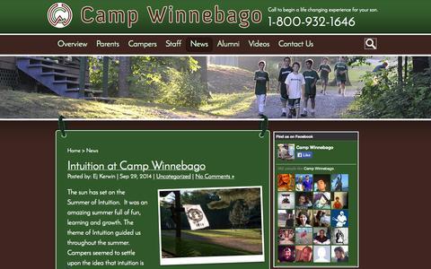 Screenshot of Press Page campwinnebago.com - News   Camp Winnebago - captured Sept. 30, 2014