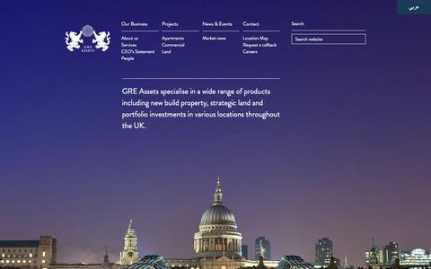 Screenshot of Home Page greassets.co.uk - Welcome To GRE Assets - captured Jan. 29, 2016