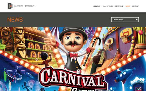 Screenshot of Press Page hcassociates.com - News Archives   Hamagami / Carroll - captured Sept. 26, 2018