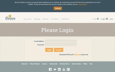 Screenshot of Login Page ffrees.co.uk - Ffrees - Ffrees login. Access your Ffrees Account, Ffrees Card and money - Ffrees login. Access your Ffrees Account, Ffrees Card and money - captured Sept. 16, 2014
