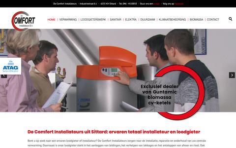 Screenshot of Home Page decomfortinstallateurs.nl - De Comfort Installateurs uit Sittard: uw loodgieter en installateur - captured Oct. 7, 2018