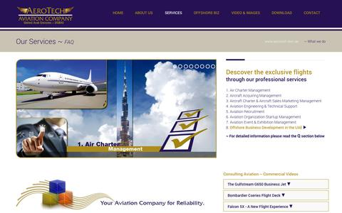 Screenshot of Services Page aerotech-dwc.ae - AeroTech Consulting DWC-LLC - captured Oct. 4, 2014