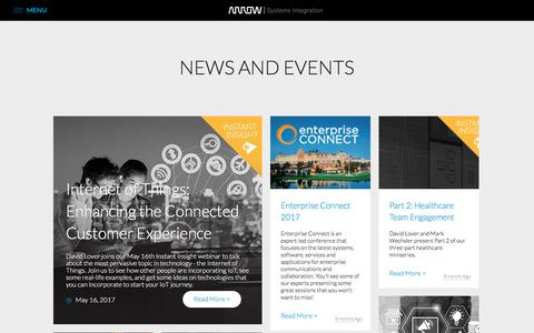 Screenshot of Press Page arrows3.com - Unified Business Communications Solutions | Arrow Systems Integration - captured Jan. 1, 2018