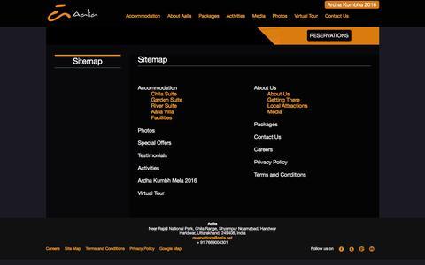 Screenshot of Site Map Page aalia.net - Sitemap - Aalia - captured Feb. 5, 2016