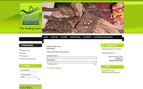 Screenshot of Login Page fashionallround.nl - Login - captured Sept. 30, 2014