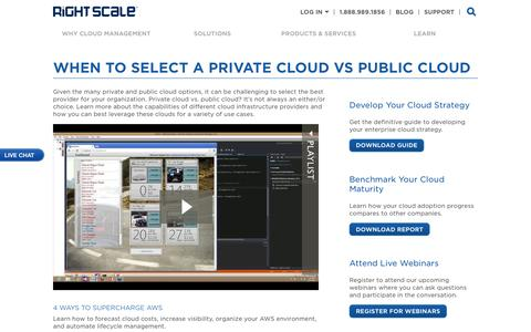 Learn About Public vs Private Clouds | RightScale