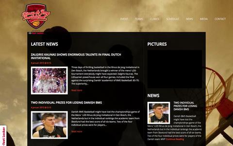 Screenshot of Press Page rinusdejong.com - News | Rinus de Jong - captured Oct. 7, 2014