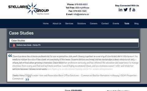 Screenshot of Case Studies Page stellaris.co - HR Case Studies - Metro Atlanta GA - captured Oct. 25, 2017