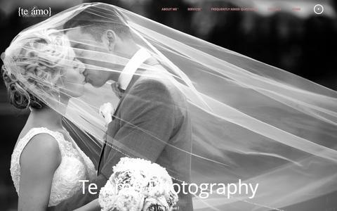 Screenshot of Home Page teamophotography.com - home | Te Amo Photography | Vancouver wedding photographer | Calgary wedding photographer - captured Oct. 9, 2014