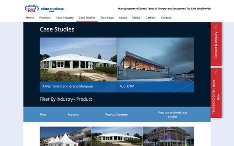 Screenshot of Case Studies Page roderhts.com - Marquee Hire | Case Study | RÖDER HTS HÖCKER - captured Oct. 19, 2018