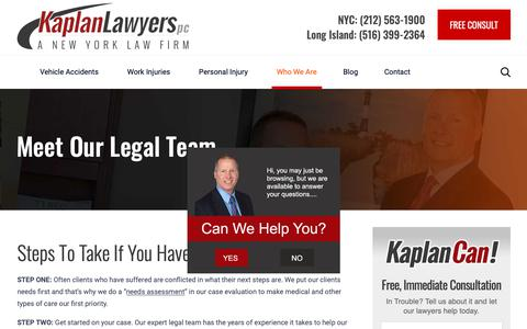 Screenshot of Team Page kaplanlawyers.com - Who We Are | Meet Our Team | Kaplan Lawyers, PC - captured Jan. 18, 2019