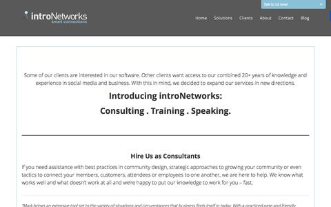 Screenshot of Services Page intronetworks.com - Services - introNetworks - captured Sept. 16, 2014