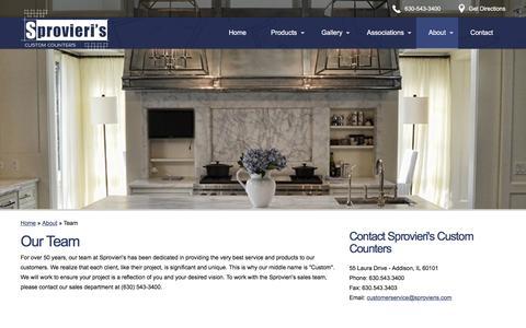 Screenshot of Team Page sprovieris.com - Team | Sprovieri's Custom Counters - captured Dec. 13, 2016