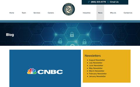 Screenshot of Press Page sthreesecurity.com - Blog - S3 Security - captured Oct. 1, 2018