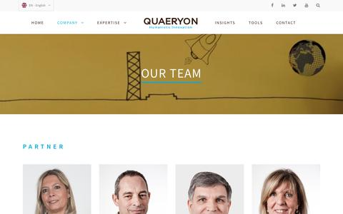 Screenshot of Team Page quaeryon.com - Our Team | Quaeryon - captured July 19, 2018