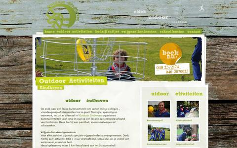 Screenshot of Home Page outdoor-eindhoven.nl - Outdoor Eindhoven - captured Oct. 9, 2014