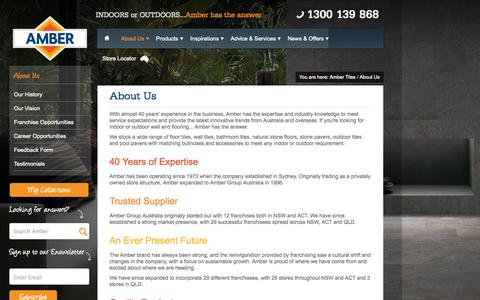 Screenshot of About Page ambertiles.com.au - Amber Group Australia - captured Sept. 30, 2014