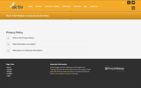 Screenshot of Privacy Page aktiv-wheelchairs.com - Aktiv-Wheelchairs         | Privacy - captured Sept. 30, 2014