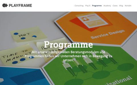 Screenshot of Team Page playframe.de - Playframe - Growth by Design - captured Sept. 25, 2018