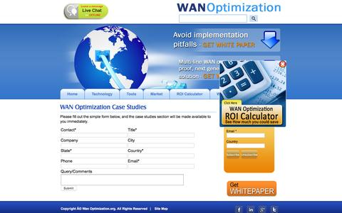 Screenshot of Case Studies Page wanoptimization.org - Case Studies | WAN Optimization - captured Feb. 13, 2016