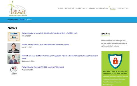 Screenshot of Press Page ipram.net - News – IPRAM - captured Oct. 4, 2017