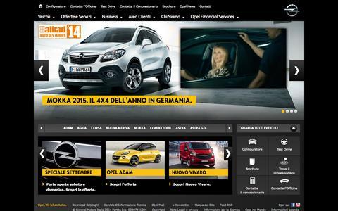 Screenshot of Home Page opel.it - Opel Italia | Sito Ufficiale di Opel Italia  - Veicoli e Servizi Opel - captured Sept. 19, 2014