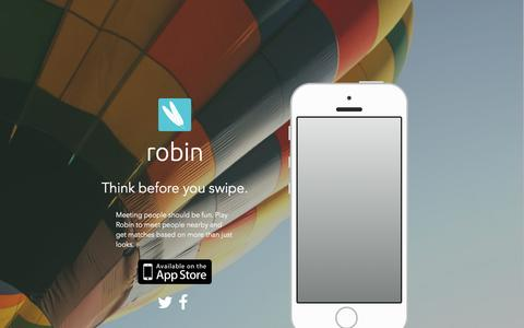 Screenshot of Home Page Terms Page robinme.com - Robin App - captured Dec. 13, 2014