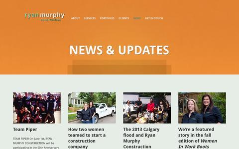 Screenshot of Press Page ryanmurphyconstruction.com - Ryan Murphy Construction   » News - captured Oct. 9, 2014