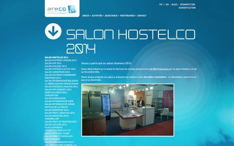Screenshot of Press Page areco.fr - ARECO, Technologie de nébulisation : Nébuliser, Protéger et Valoriser - captured Oct. 29, 2014