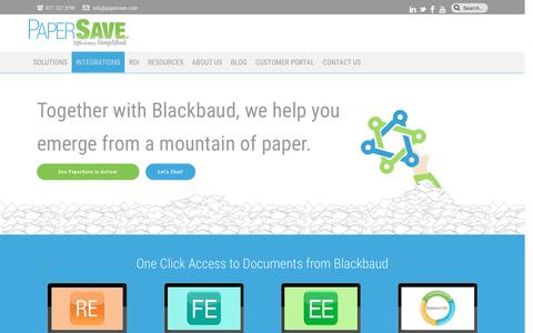Document Management for Blackbaud | PaperSave