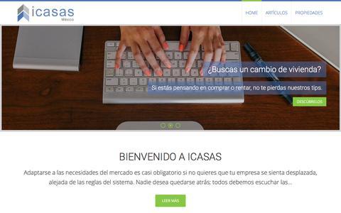 Screenshot of Blog icasas.mx - iCasas Blog: información y consejos sobre el sector inmobiliario - iCasas.mx - captured Aug. 30, 2016