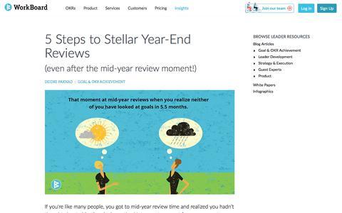 Screenshot of Testimonials Page workboard.com - 5 Steps to A Stellar Performance Review | WorkBoard Blog - captured Jan. 15, 2020