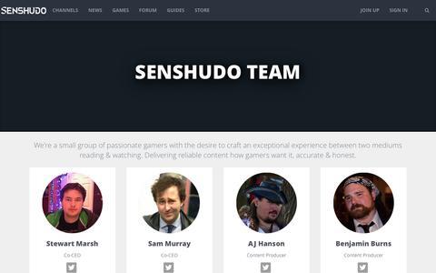 Screenshot of Team Page senshudo.tv - The Team | Senshudo - captured Aug. 28, 2016