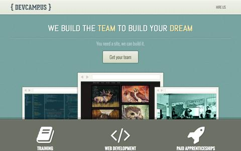 Screenshot of Home Page devcamp.us - DevCampus - captured Oct. 5, 2014