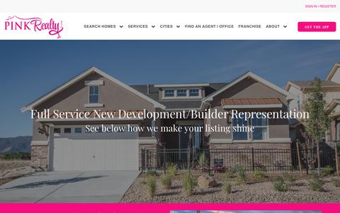 Screenshot of Developers Page pinkrealty.com - Marketing Plan to Sell Your House | Pink Realty Headquarters - captured July 18, 2018