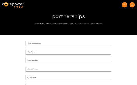 Partnerships | CorePower Yoga