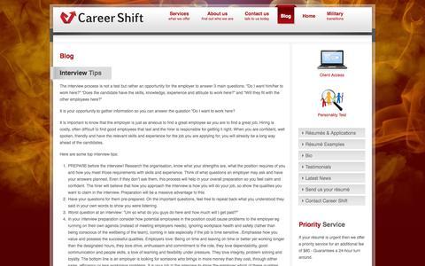 Screenshot of Blog careershift.com.au - Blog - captured Oct. 1, 2014