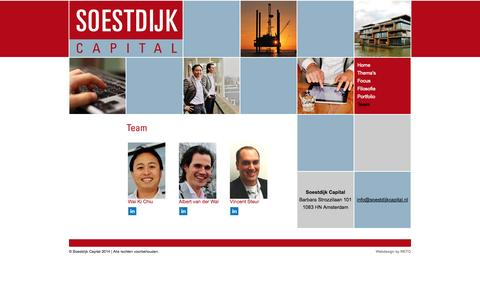 Screenshot of Team Page soestdijkcapital.nl - Soestdijk Capital - captured Oct. 1, 2014